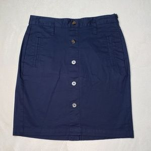 NWT Women's - Old Navy Blue Buttoned Skirt, Size 4